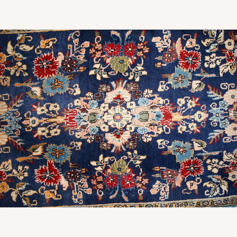 Handmade Vintage Persian Tehran Rug - image-9