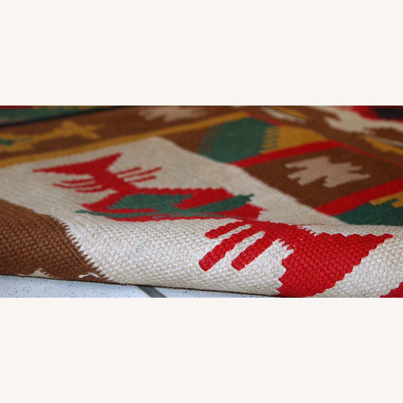 Handmade Vintage Turkish Anatolian Kilim - image-6