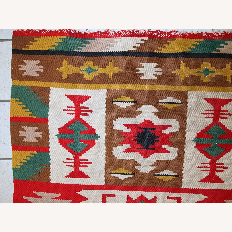 Handmade Vintage Turkish Anatolian Kilim - image-7