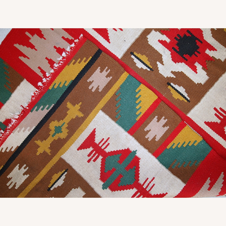 Handmade Vintage Turkish Anatolian Kilim - image-2