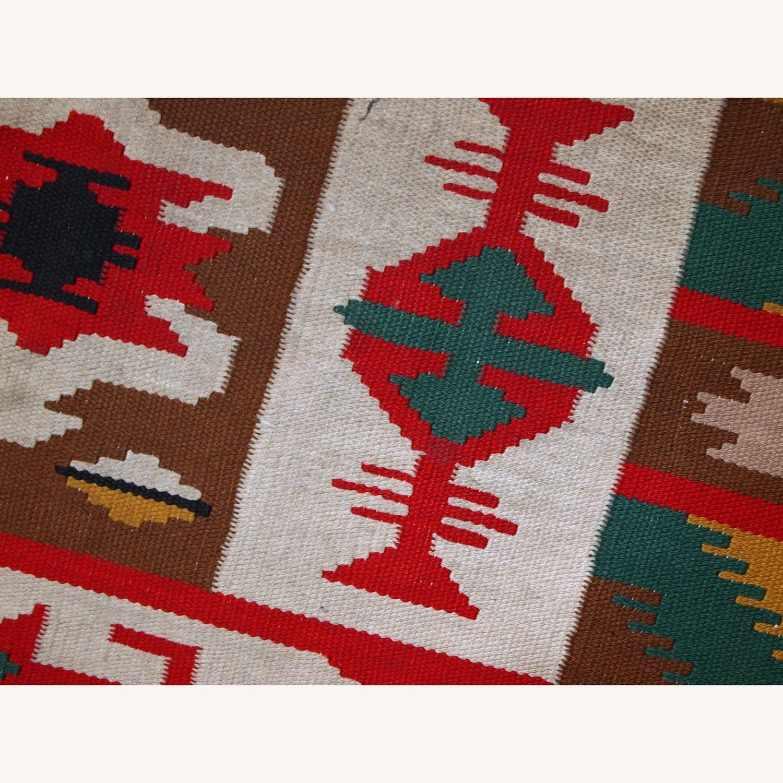 Handmade Vintage Turkish Anatolian Kilim - image-9