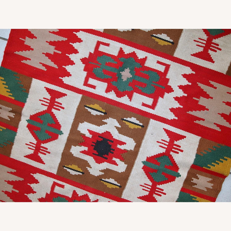 Handmade Vintage Turkish Anatolian Kilim - image-5