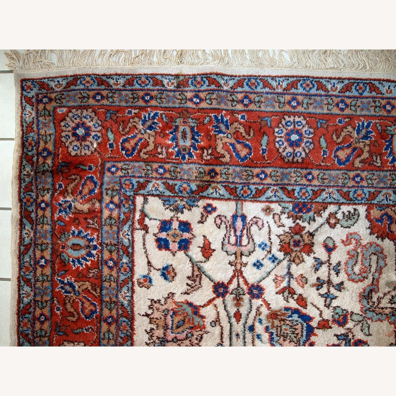Handmade Vintage Persian Mashad Rug - image-2