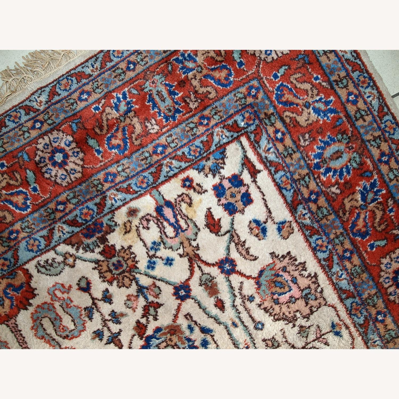 Handmade Vintage Persian Mashad Rug - image-4