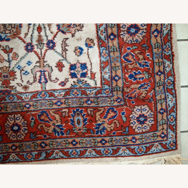 Handmade Vintage Persian Mashad Rug - image-10