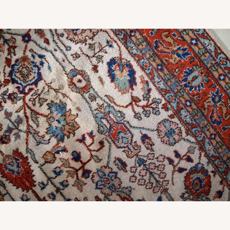 Handmade Vintage Persian Mashad Rug - image-6