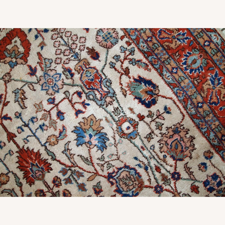 Handmade Vintage Persian Mashad Rug - image-8