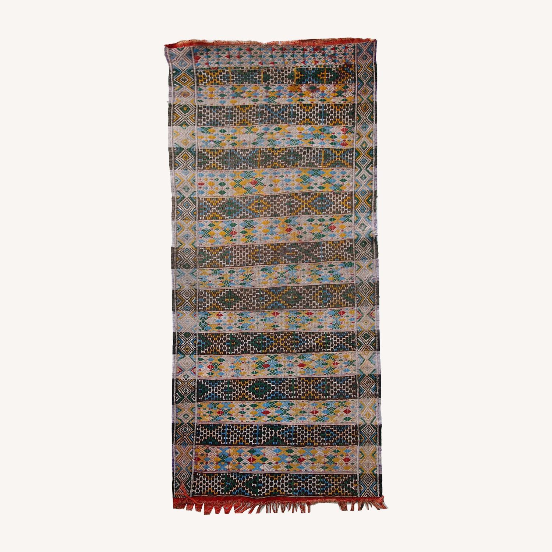 Handmade Vintage Tunisian Flat-weave Kilim - image-0