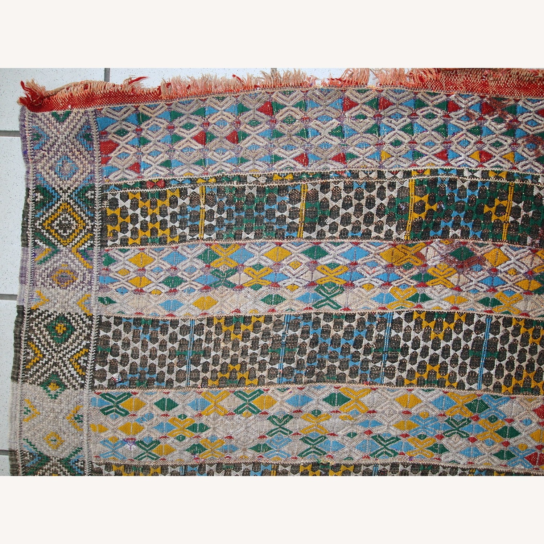 Handmade Vintage Tunisian Flat-weave Kilim - image-4