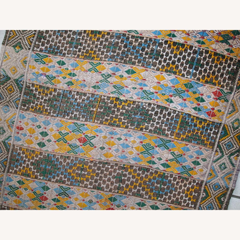 Handmade Vintage Tunisian Flat-weave Kilim - image-9