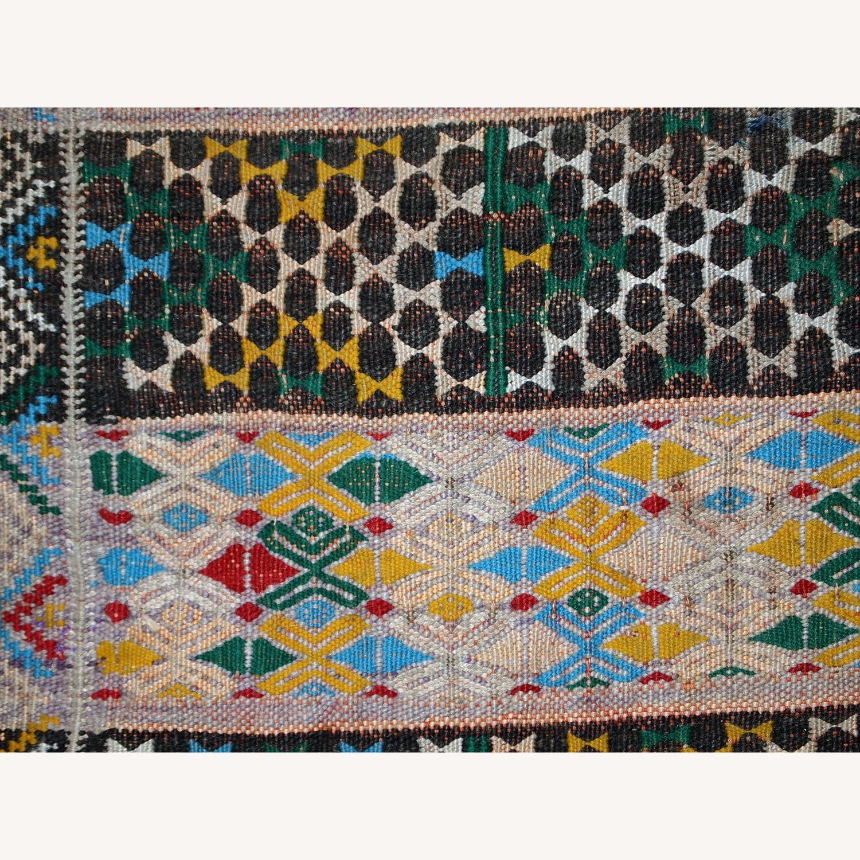 Handmade Vintage Tunisian Flat-weave Kilim - image-6