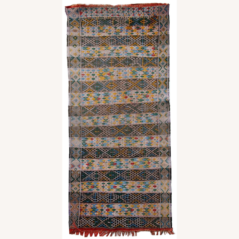 Handmade Vintage Tunisian Flat-weave Kilim - image-1