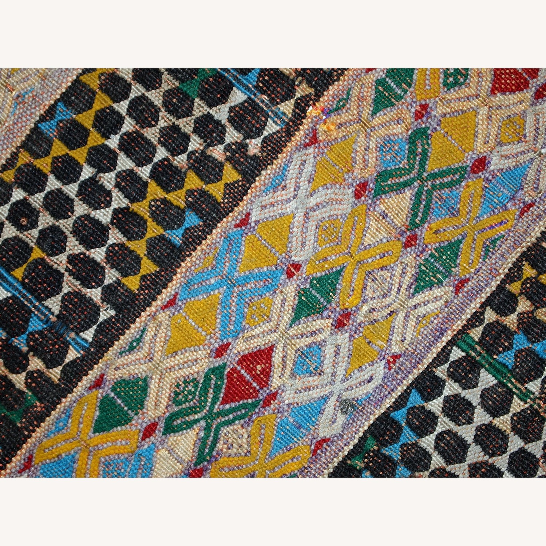 Handmade Vintage Tunisian Flat-weave Kilim - image-2