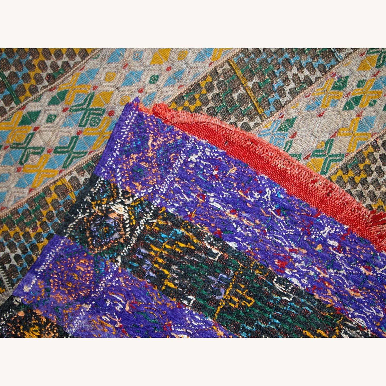 Handmade Vintage Tunisian Flat-weave Kilim - image-8