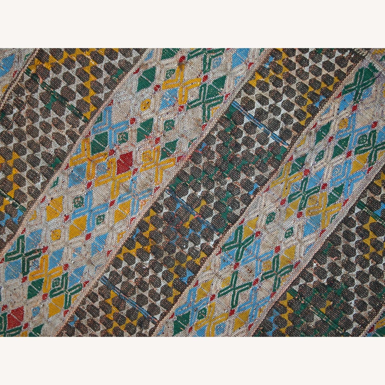 Handmade Vintage Tunisian Flat-weave Kilim - image-5