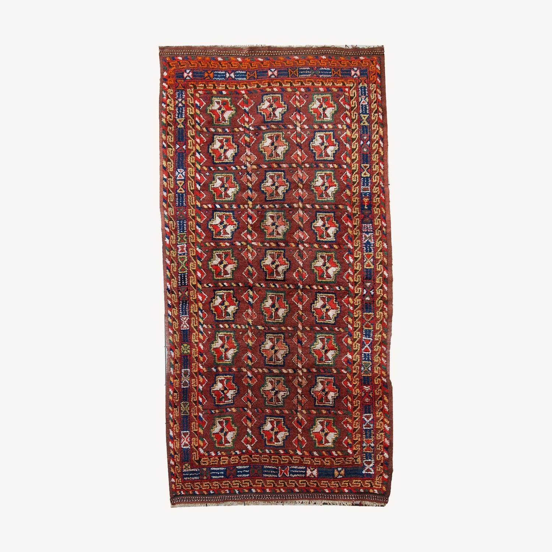 Handmade Antique Persian Kurdish Rug - image-0