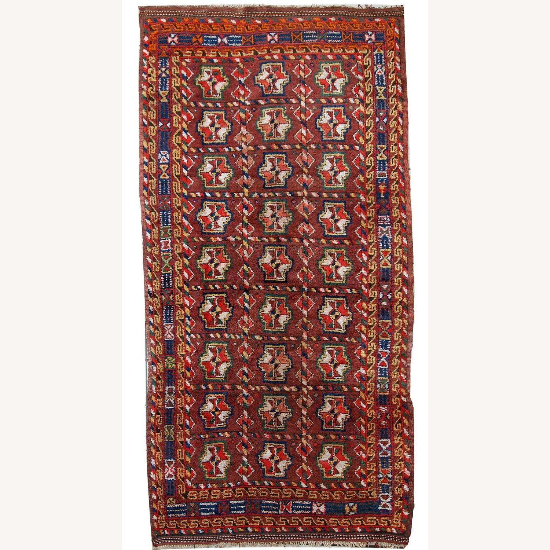 Handmade Antique Persian Kurdish Rug - image-1