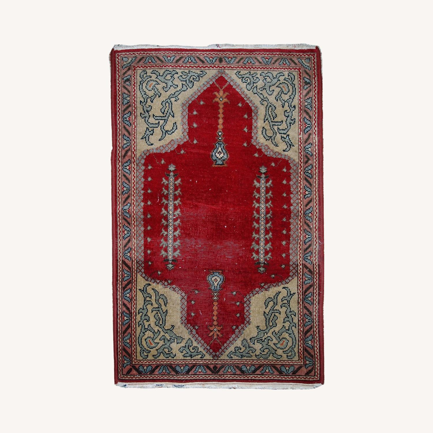 Handmade Antique Turkish Konya Rug - image-0