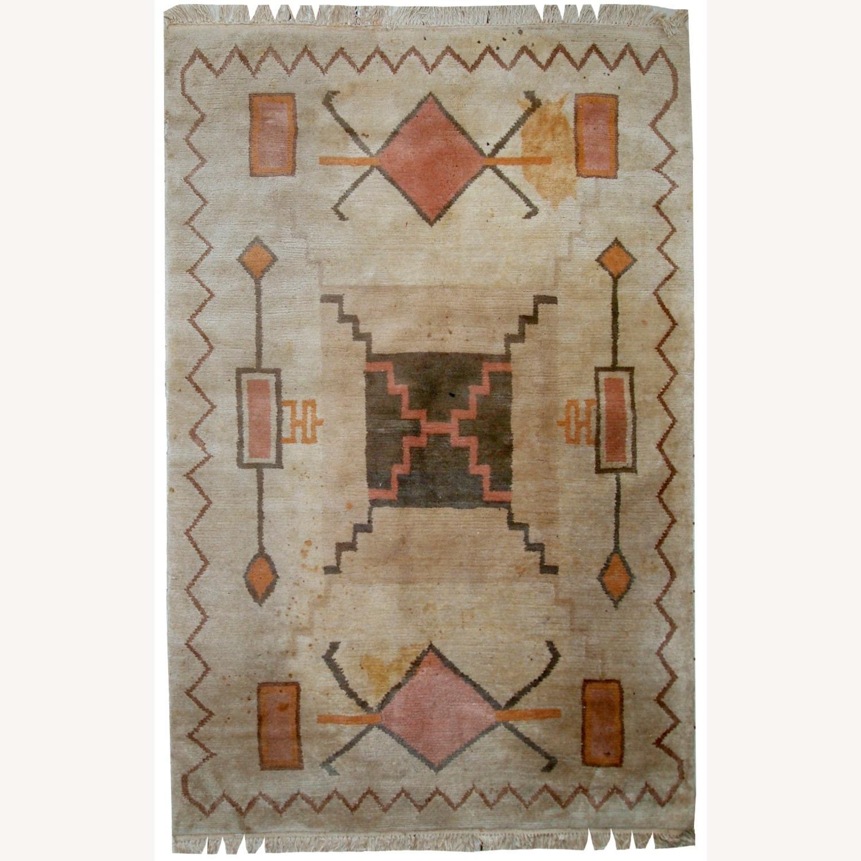 Handmade Vintage Tibetan Khaden Rug - image-1