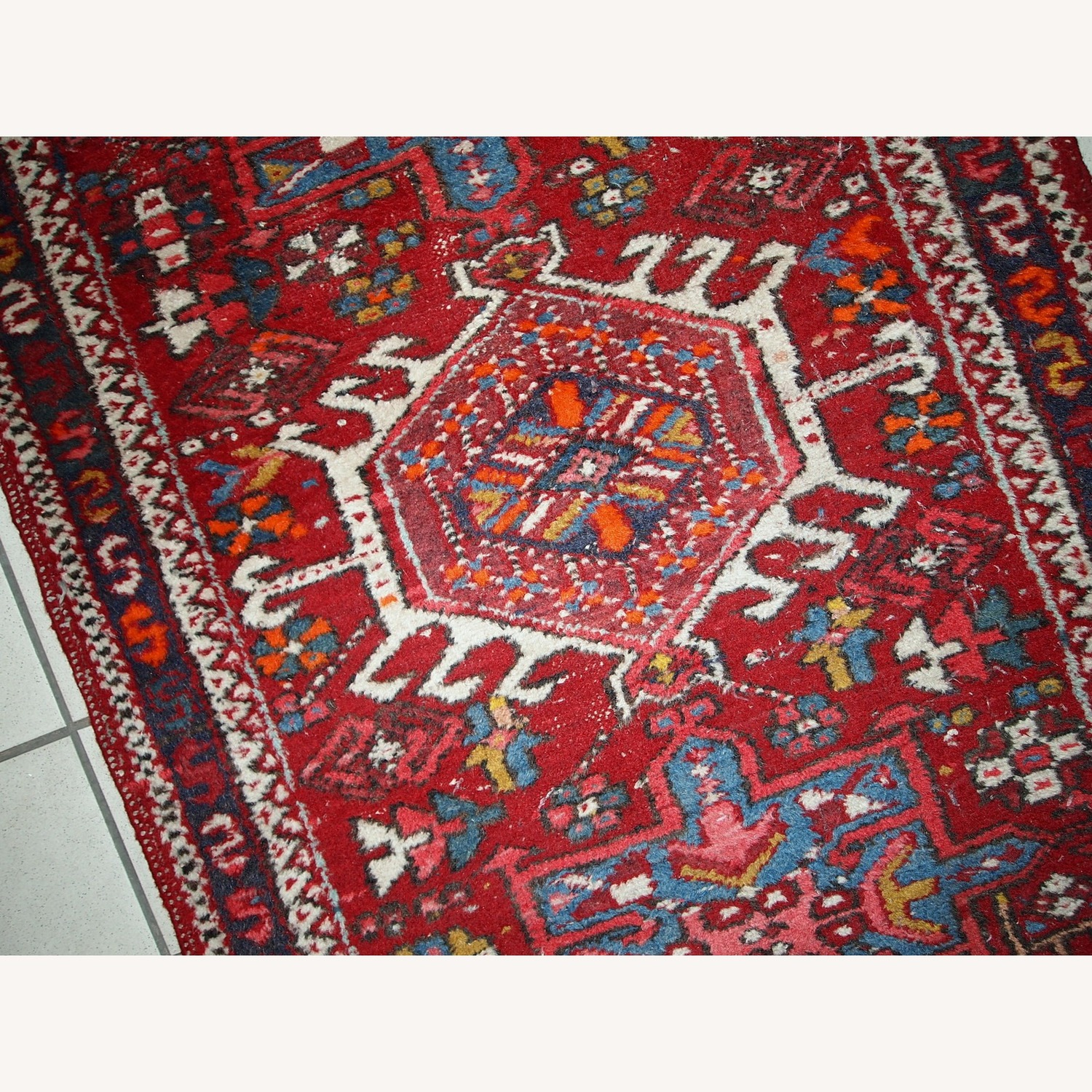 Handmade Antique Persian Karajeh Runner - image-2