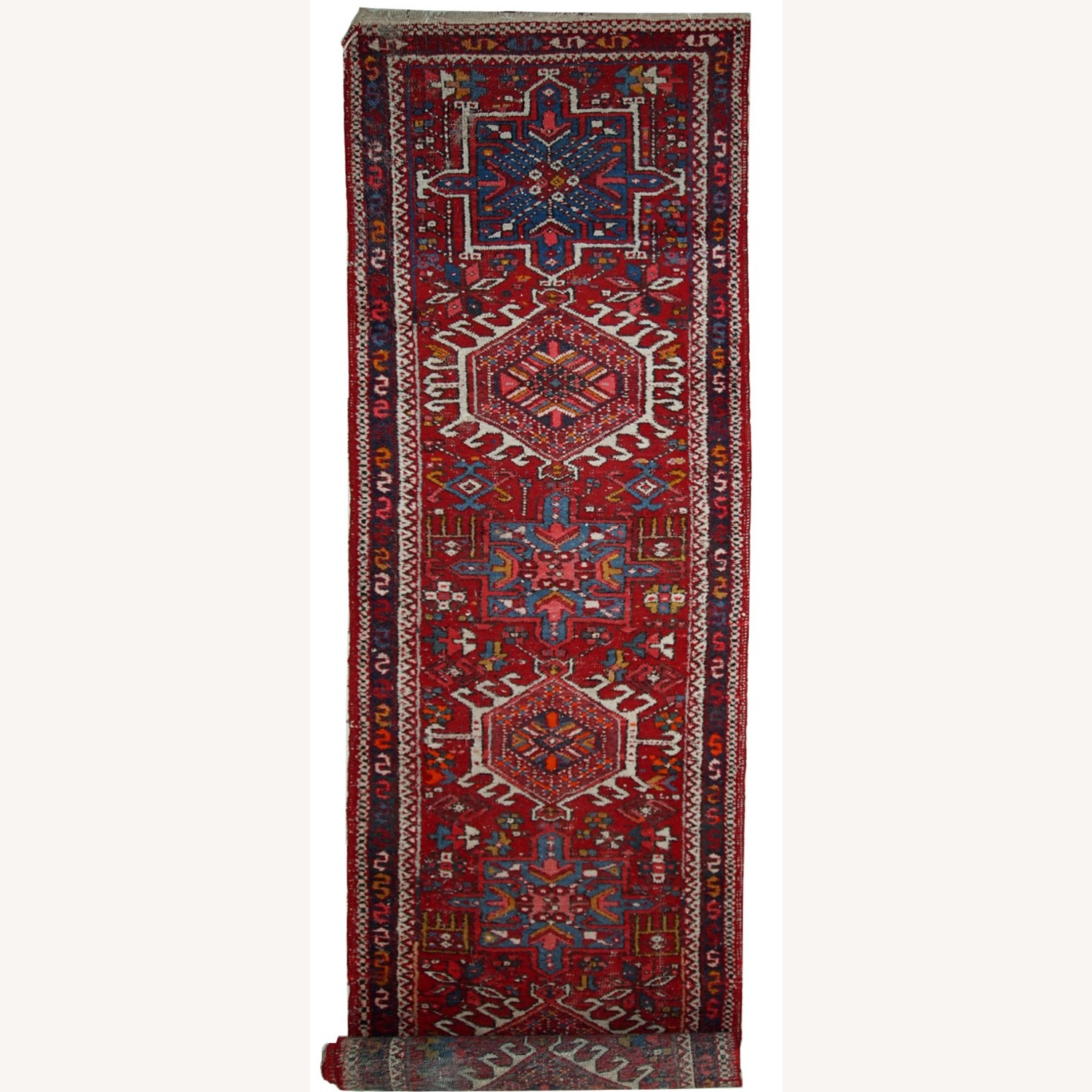 Handmade Antique Persian Karajeh Runner - image-6