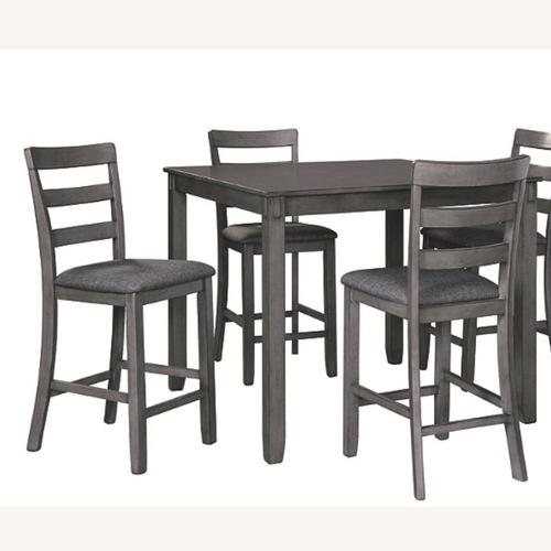 Used Ashley Furniture Gray Dining Room Set for sale on AptDeco