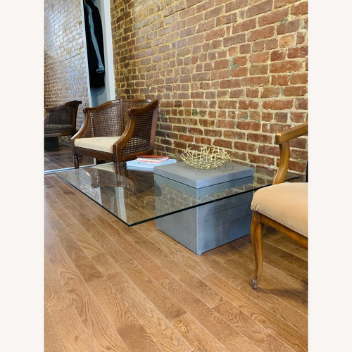 Used AllModern Coffee Table Concrete & Glass for sale on AptDeco