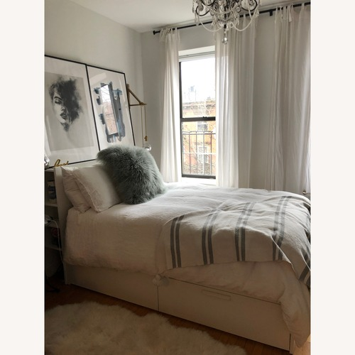 Used Ikea Storage Brimnes Bed and Headboard for sale on AptDeco