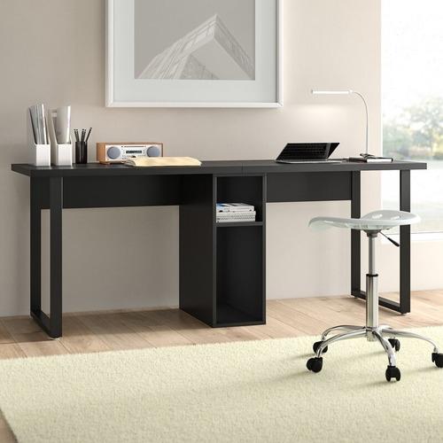 Used Wayfair Dotted Line Black Computer Desk for sale on AptDeco