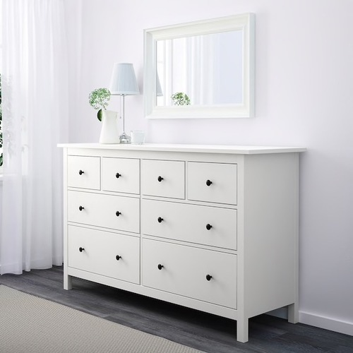 Used IKEA HEMNES 8-drawer dresser, white for sale on AptDeco