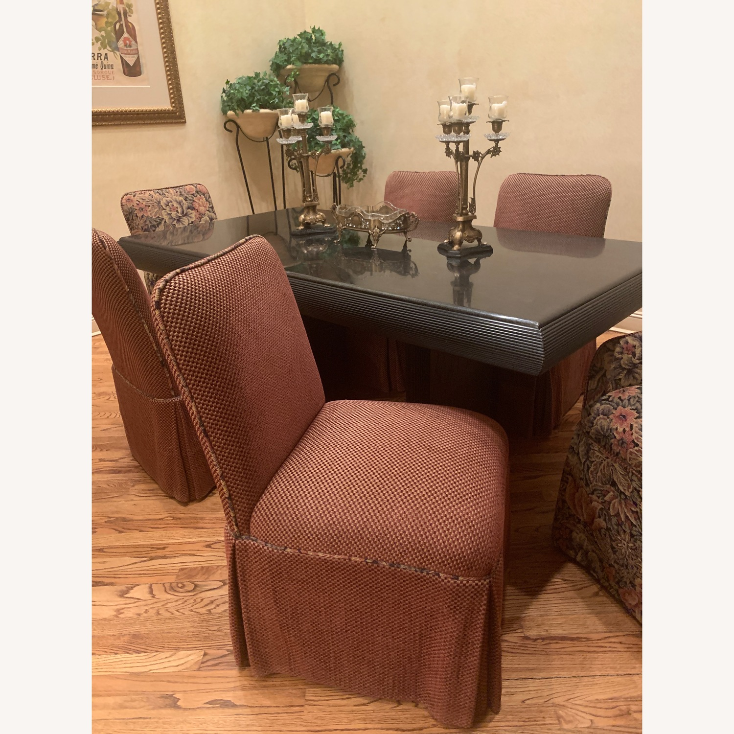 6 upholstered dining chairs - image-2