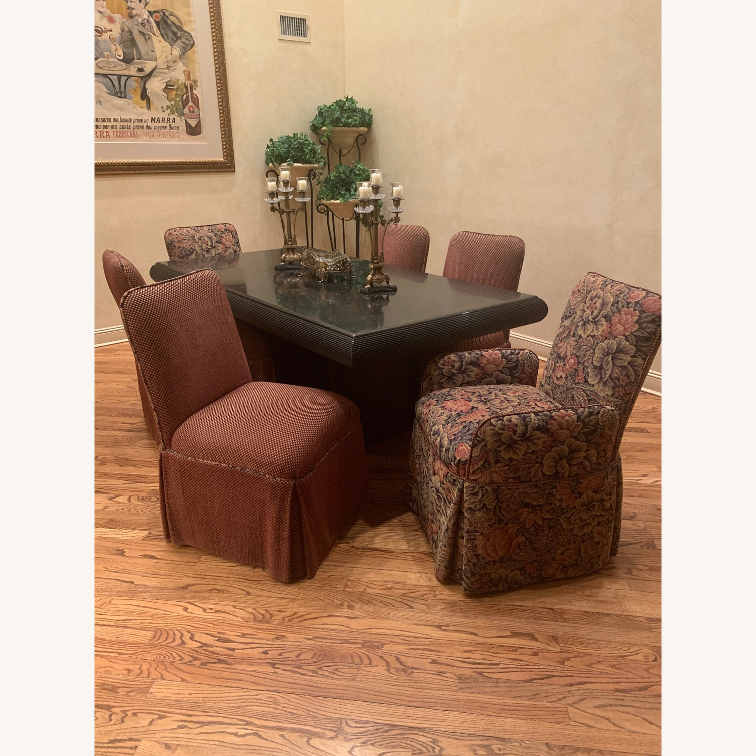 6 upholstered dining chairs - image-0