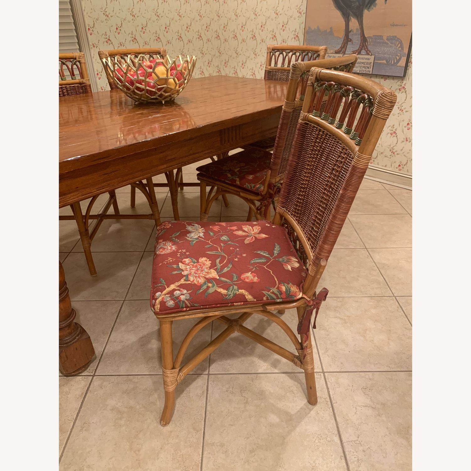 Rattan dining chairs with optional cushions  - image-2