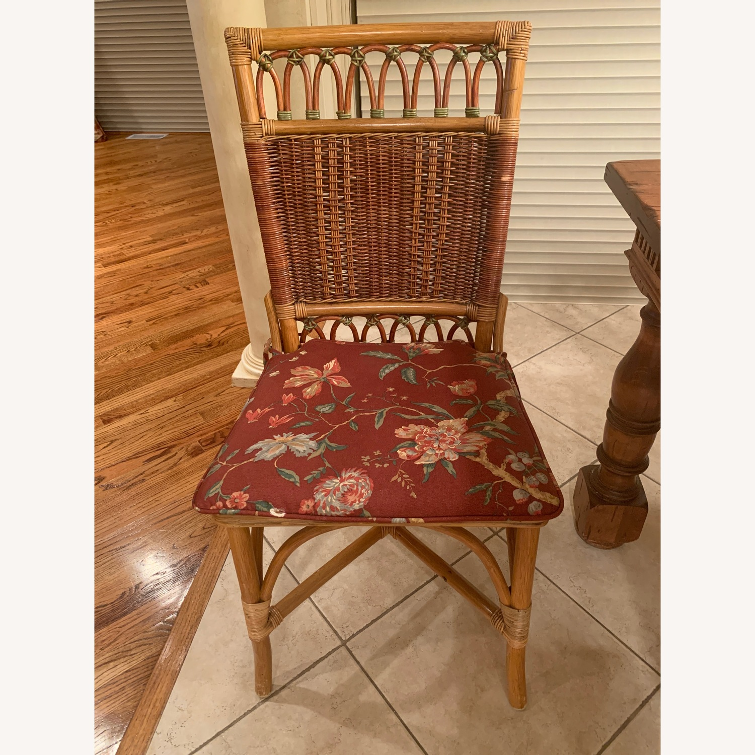 Rattan dining chairs with optional cushions  - image-0