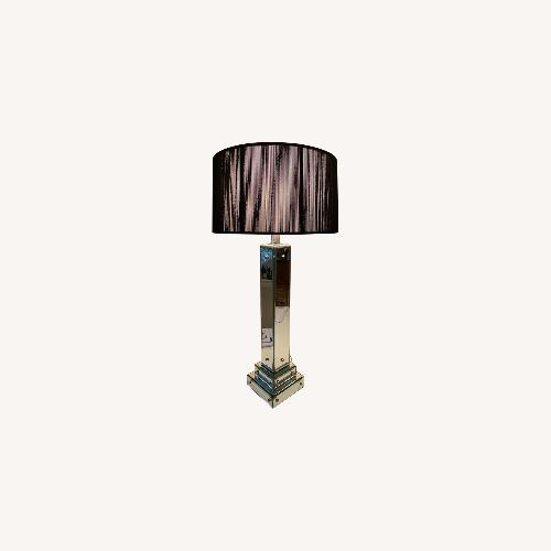 Used Art Deco Glass Lamp with ABC Carpet & Home Shade for sale on AptDeco