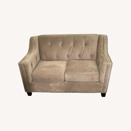 Used Bob's Discount  Natural Colored Loveseat for sale on AptDeco
