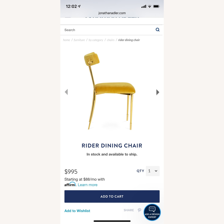 Jonathan Adler Rider Dining Chairs - image-3