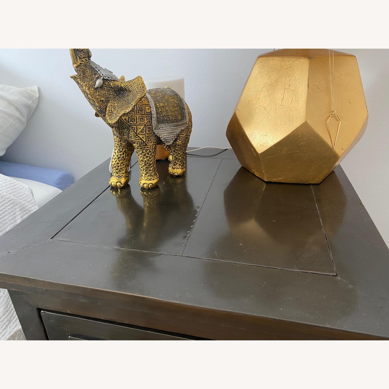 Restoration Hardware Annecy Metal Nightstand - image-1