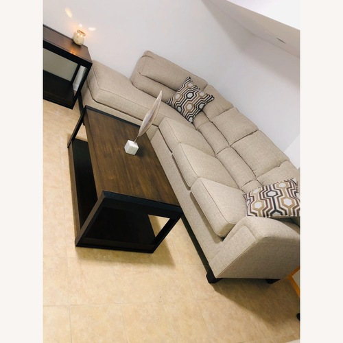 Used Bob's Discount Light Gray L shape sectional for sale on AptDeco