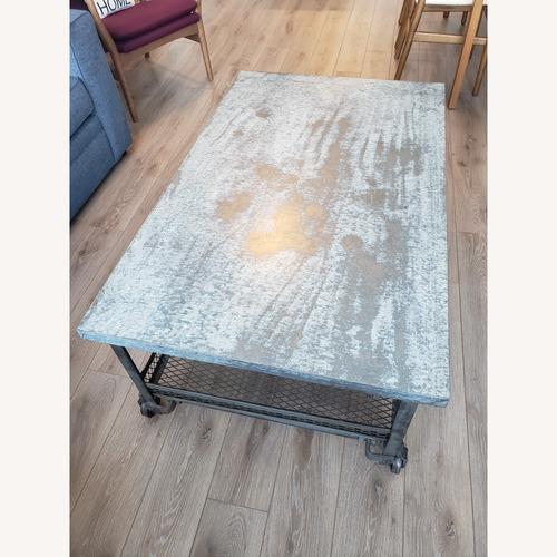 Used Industrial Metal Coffee Table for sale on AptDeco