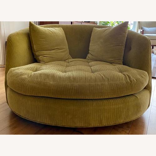 Used Green Baugman Swivel Chair for sale on AptDeco