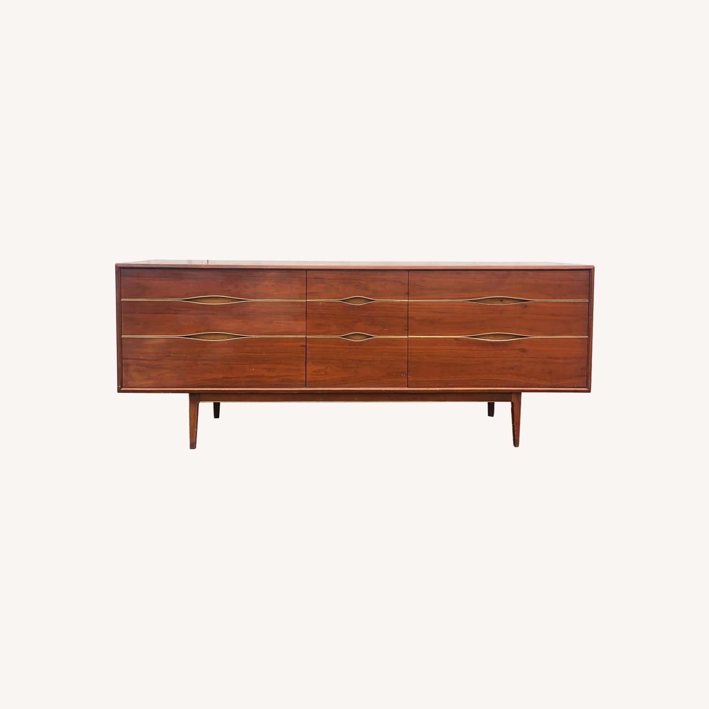 Mid Century Modern Lowboy Dresser - image-0