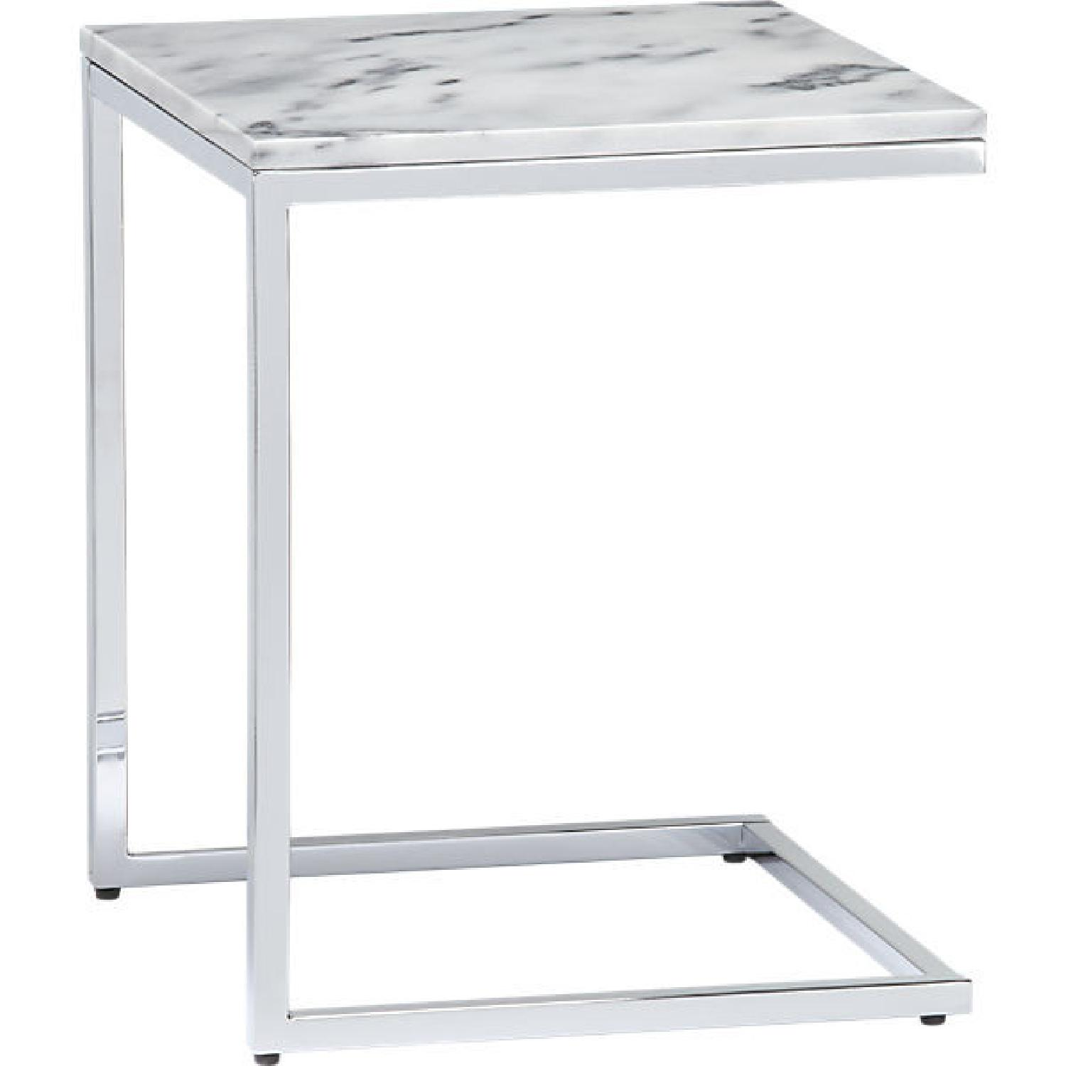 CB2 Smart Marble Top Side Table - image-0