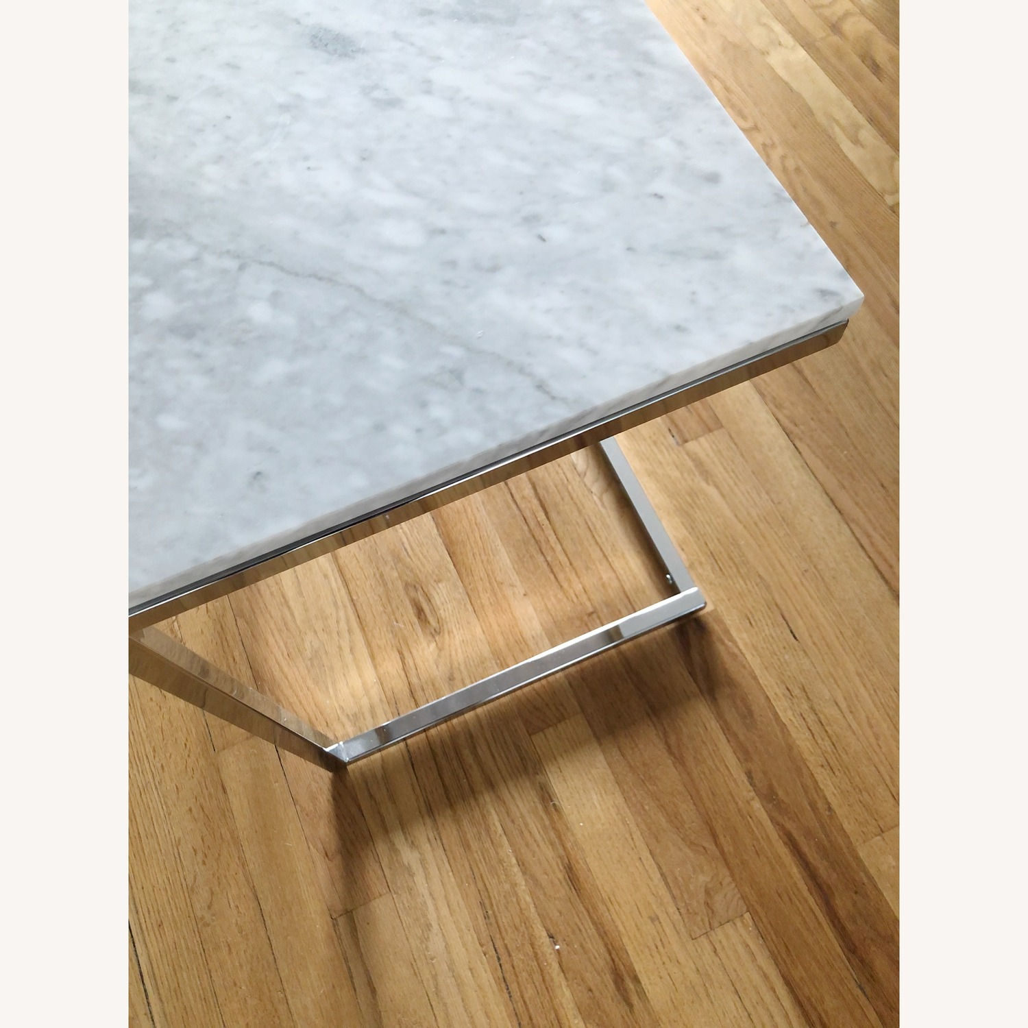 CB2 Smart Marble Top Side Table - image-3