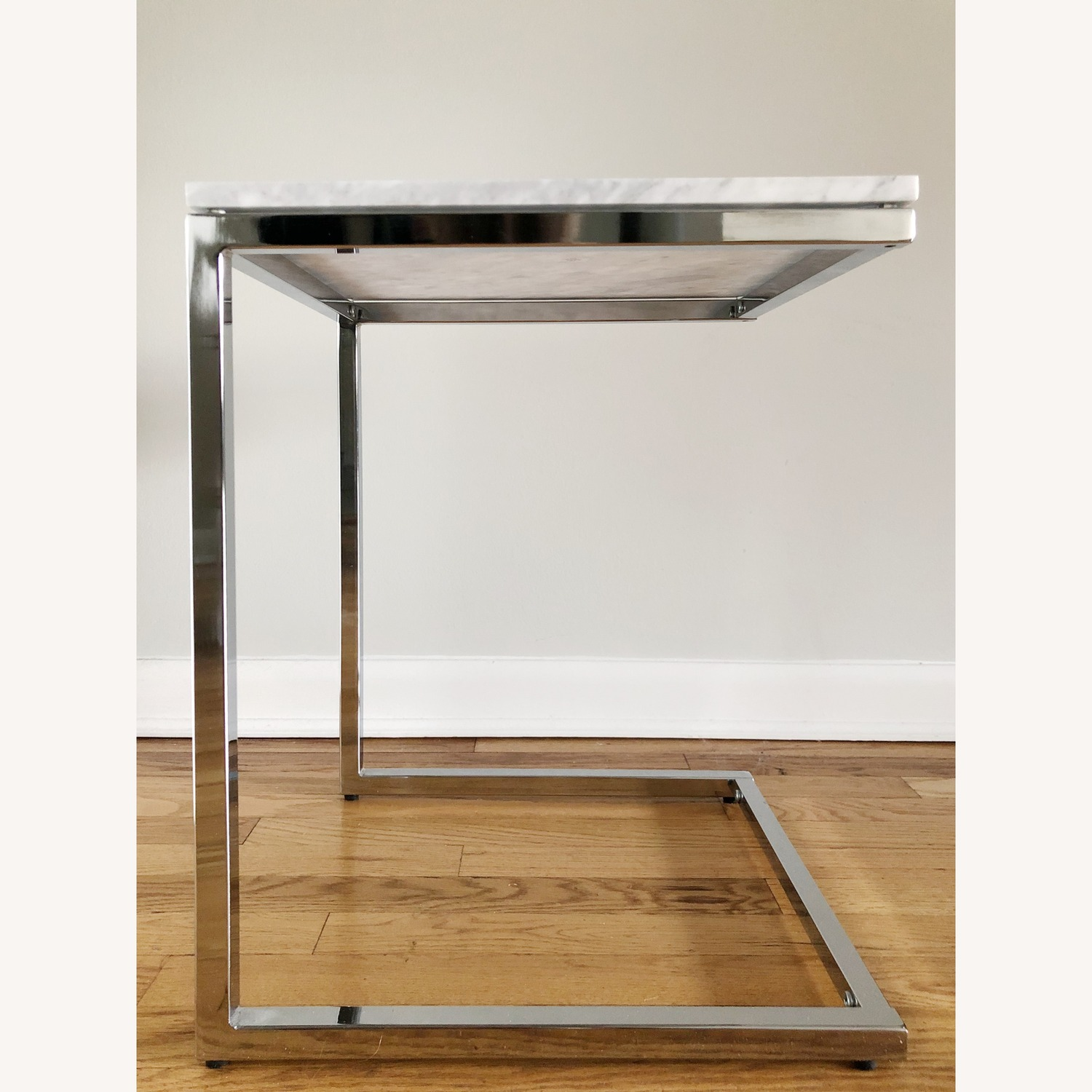 CB2 Smart Marble Top Side Table - image-1