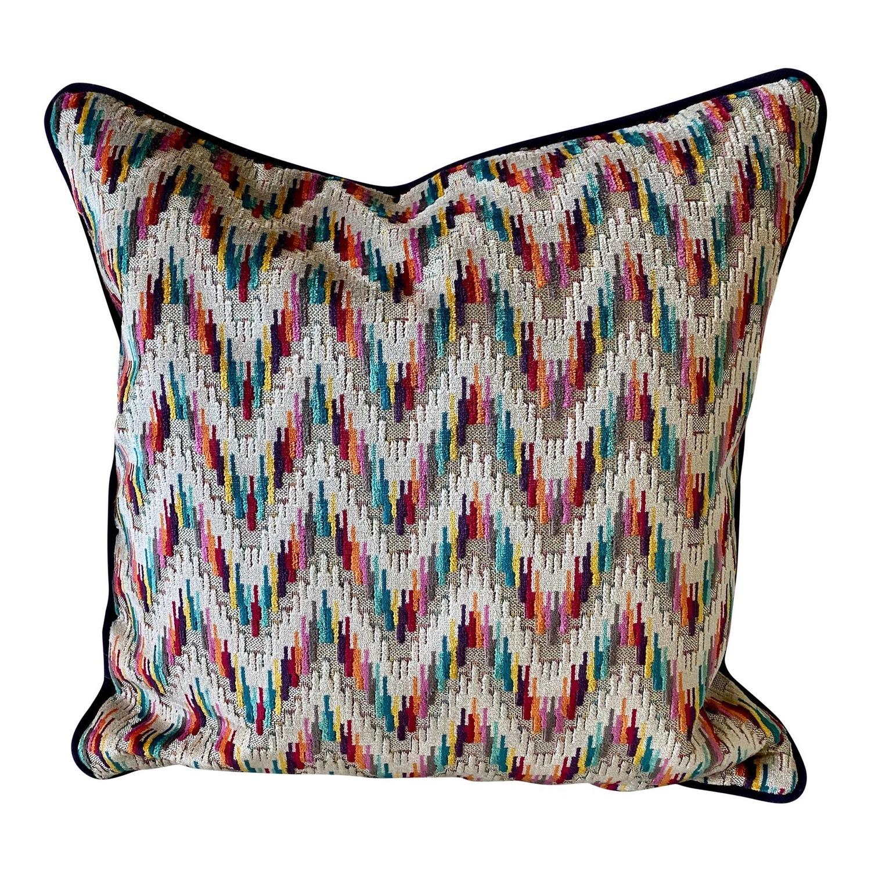 Gp & J Baker Carnival Chevron Throw Pillows - image-0