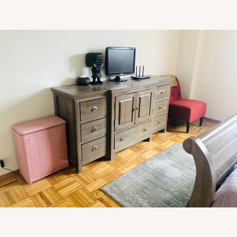 Rooms To Go Gray Dresser And Storage Cabinet Aptdeco