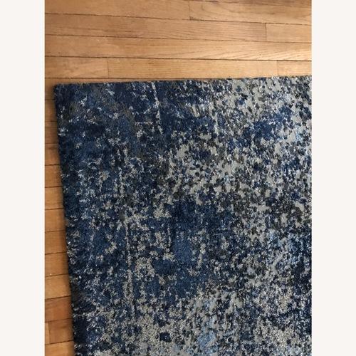 Used Kahn Gray/Navy Rectangle Area Rug 5x7 for sale on AptDeco