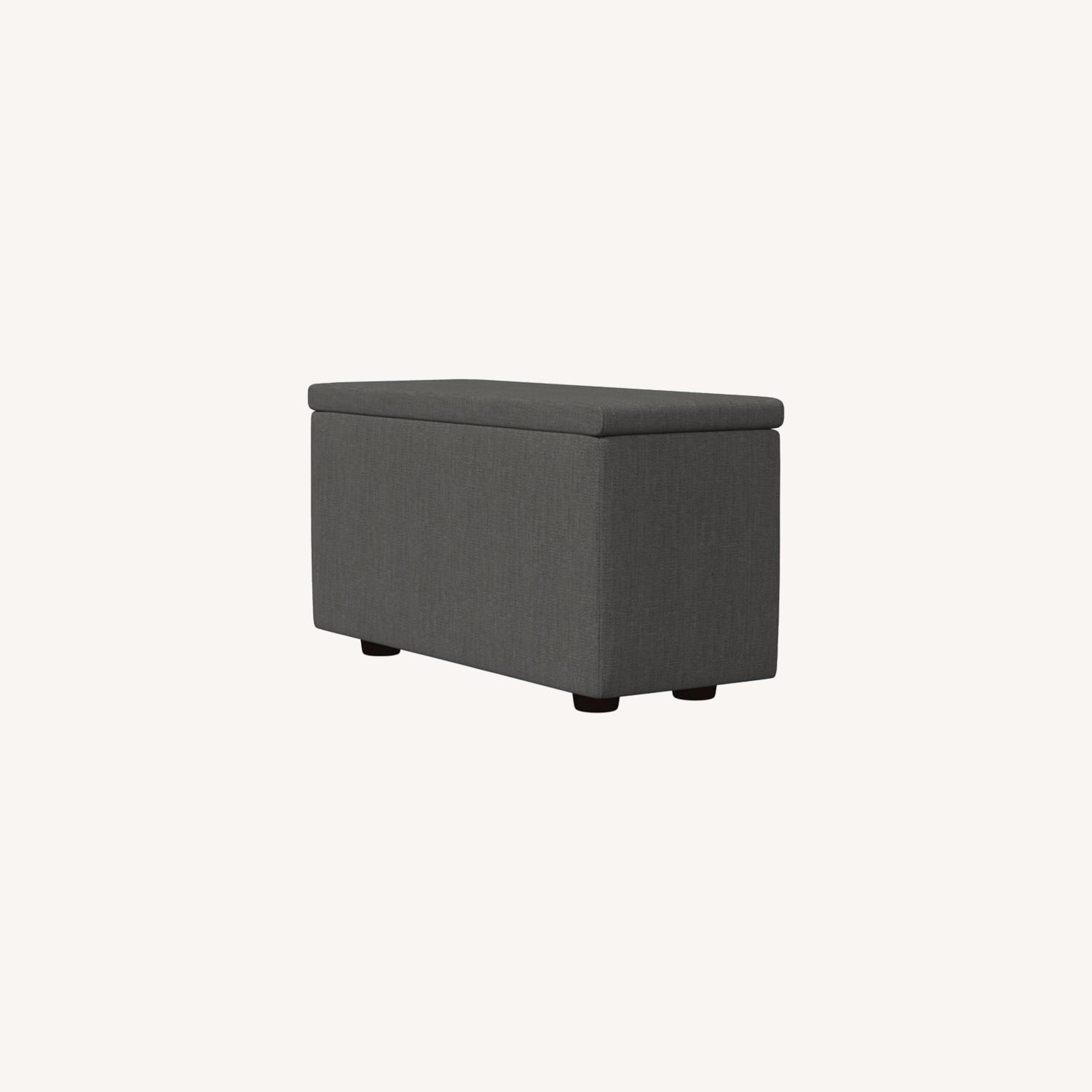West Elm Enzo Sectional Arm With Storage - image-0