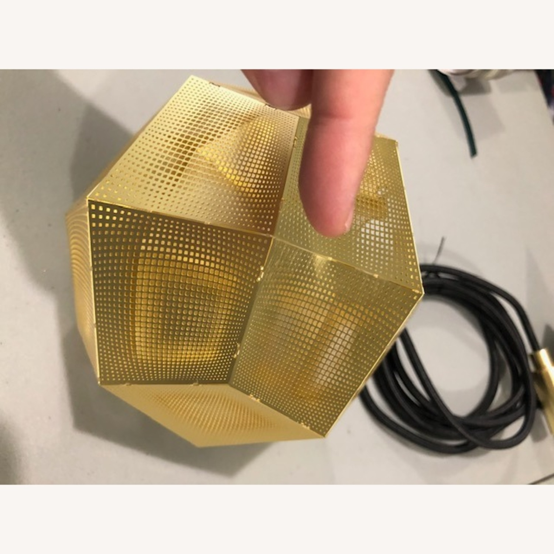 Tom Dixon Etch Mini Pendant Light in Brass - image-4